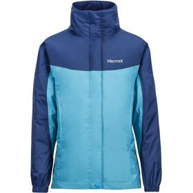 Marmot PreCip Jacket Flickor turquoise/arctic navy